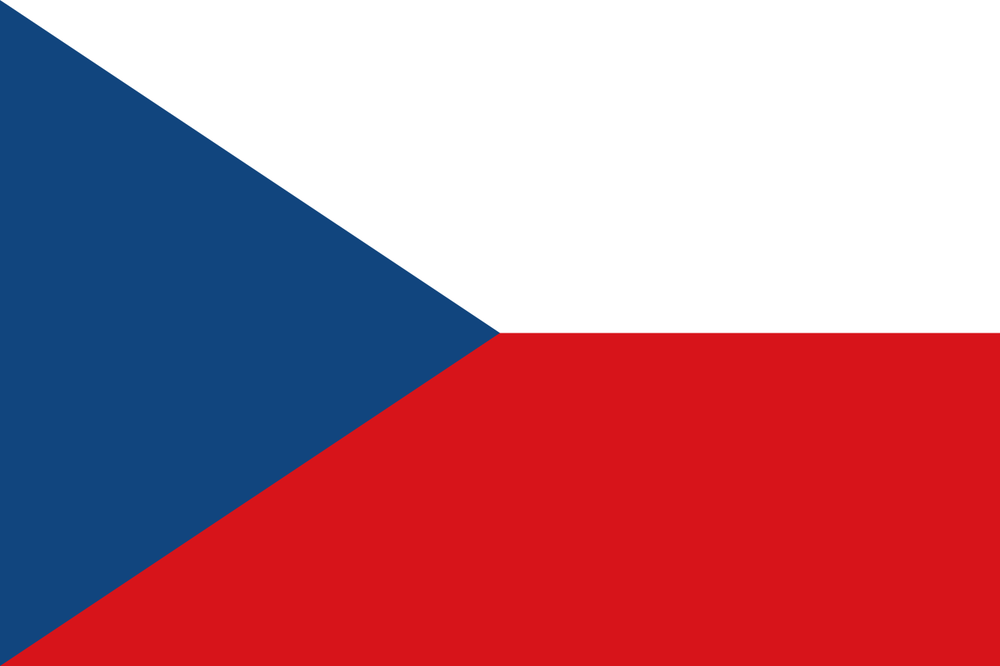 Flag of the Czech Republic. Credit: Wikimedia Commons.