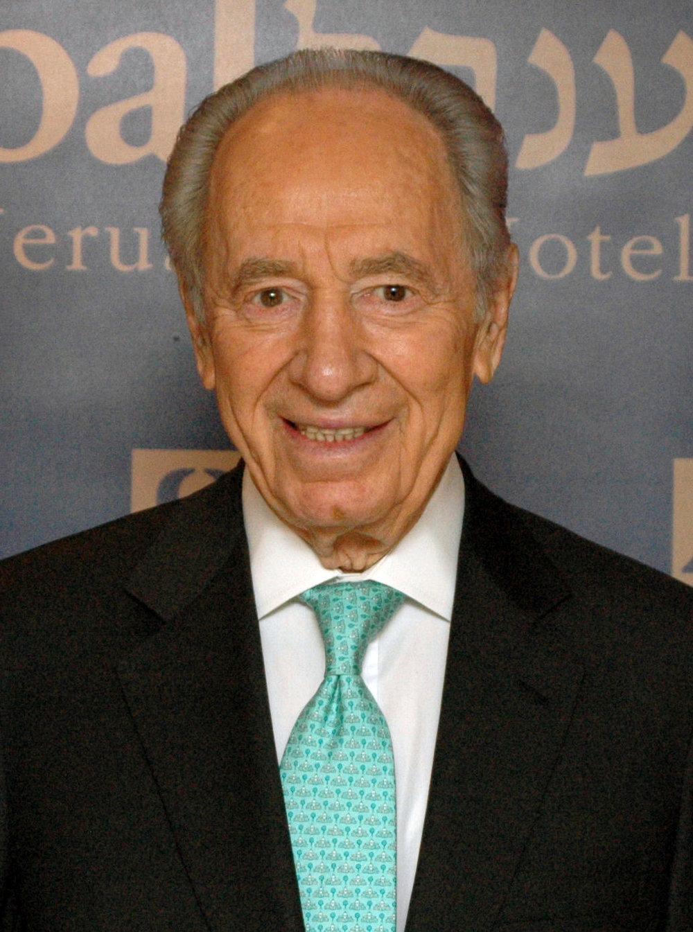 Shimon Peres. Credit: Wikimedia Commons.