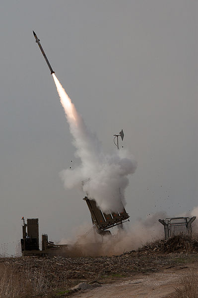 Iron Dome intercepts a rocket from the Gaza Strip during Operation Pillar of Defense. Credit: Israel Defense Forces.