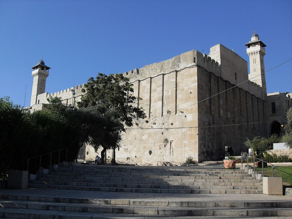 The Cave of the Patriarchs in Hebron where two Palestinian terrorists attempted to stab Israeli border police officers on Monday. Credit: Wikimedia Commons.
