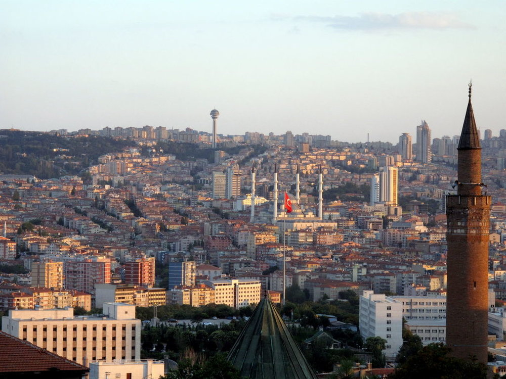 A view of the Turkish capital Ankara where a knife-wielding man was shot after attempting to stab a police officer outside of the Israeli embassy on Wednesday. Credit: Wikimedia Commons.