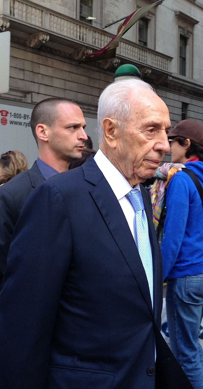 Former Israeli President Shimon Peres in 2014. Credit: Wikimedia Commons.