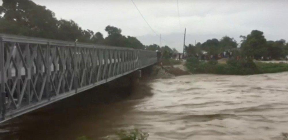 Flooding from Hurricane Matthew in Haiti. Credit: YouTube screenshot.