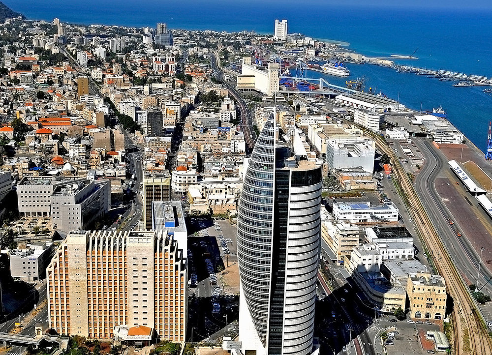 A view of downtown Haifa. Credit: Wikimedia Commons.