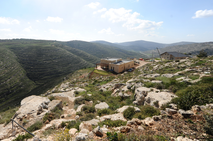 View of an outpost situated near the Israeli settlement of Shiloh, outside of Jerusalem. March 2014. Credit: Mendy Hechtman/FLASH90.