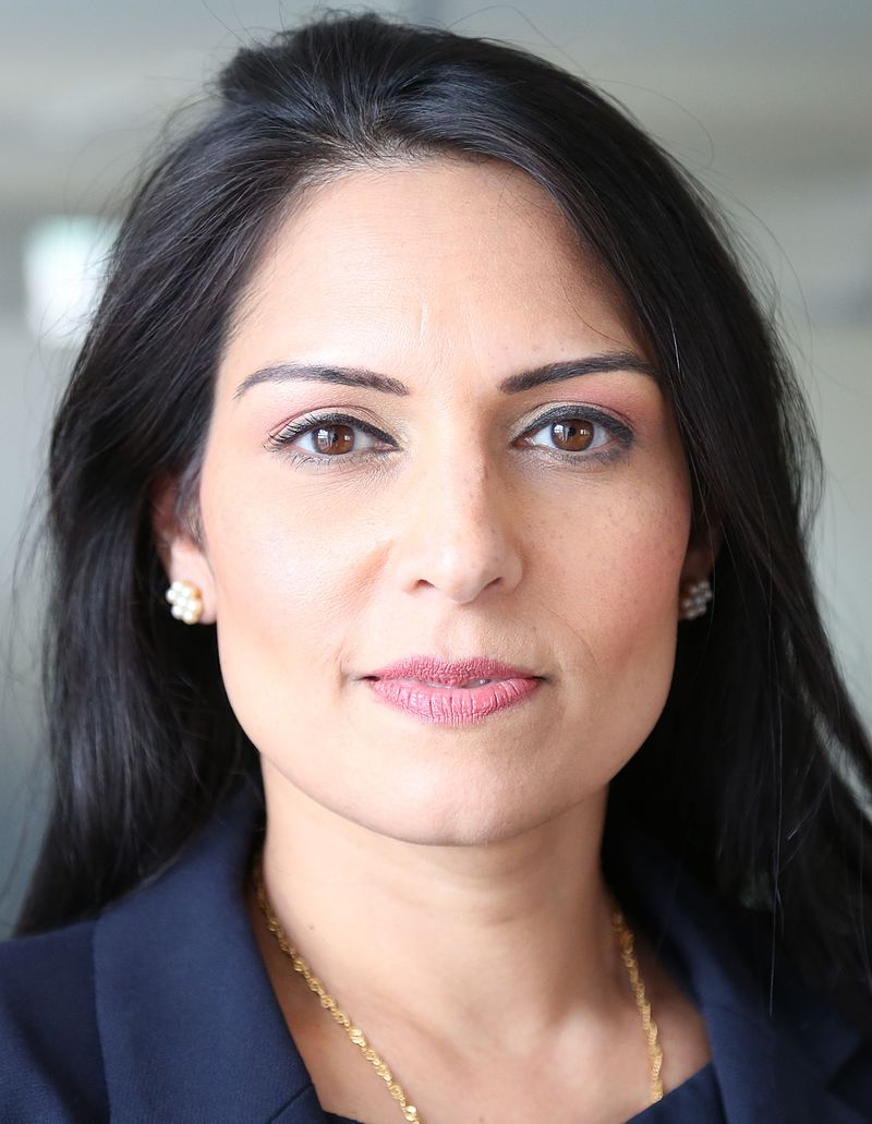 U.K.'s International Development Secretary Priti Patel who ordered the freeze in funding to the Palestinian Authority. Credit: Wikimedia Commons.