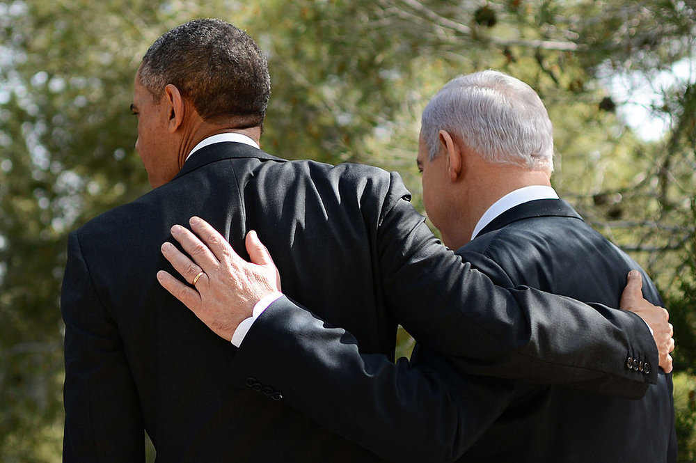 President Barak Obama and Israeli Prime Minister Benjamin Netanyahu during Obama's 2013 Jerusalem visit. Credit: Kobi Gideon/GPO/Getty Images.