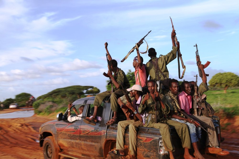 Al-Shabaab fighters. Credit: Wikimedia Commons.