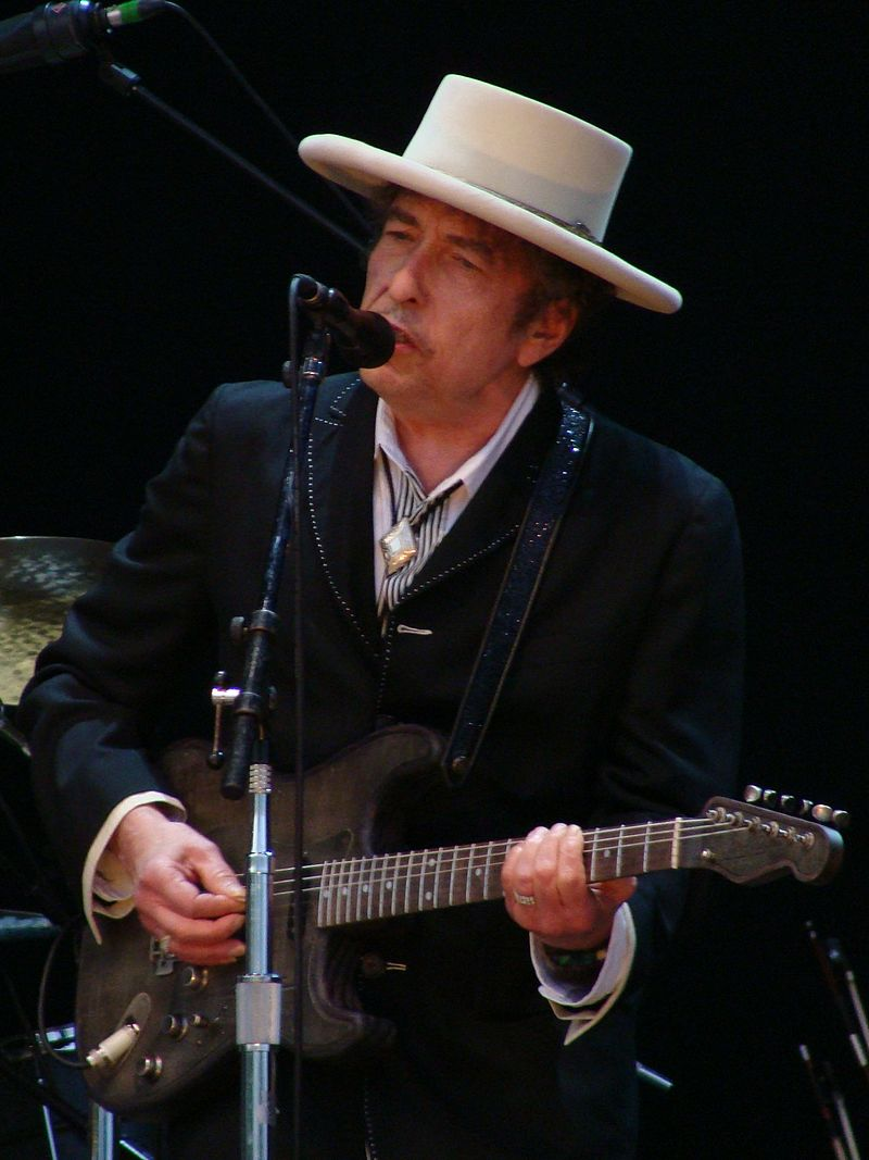 Bob Dylan performing in 2010. Credit: Wikimedia Commons.
