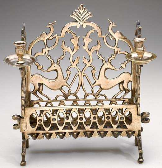 "This ""deer"" Hanukkah lamp is from 19th century Eastern Europe. Credit: The Jewish Museum, gift of Dr. Harry G. Friedman."