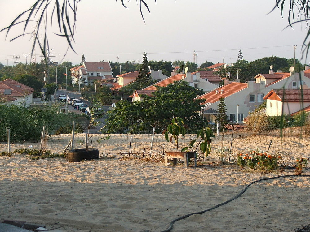 A look at the former Jewish community of Gush Katif in the southern Gaza Strip. Credit: Wikimedia Commons.