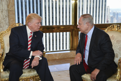Republican nominee Donald Trump meeting with Israeli Prime Minister Benjamin Netanyahu at Trump Tower on Sept. 25. Credit: Kobi Gideon/GPO.