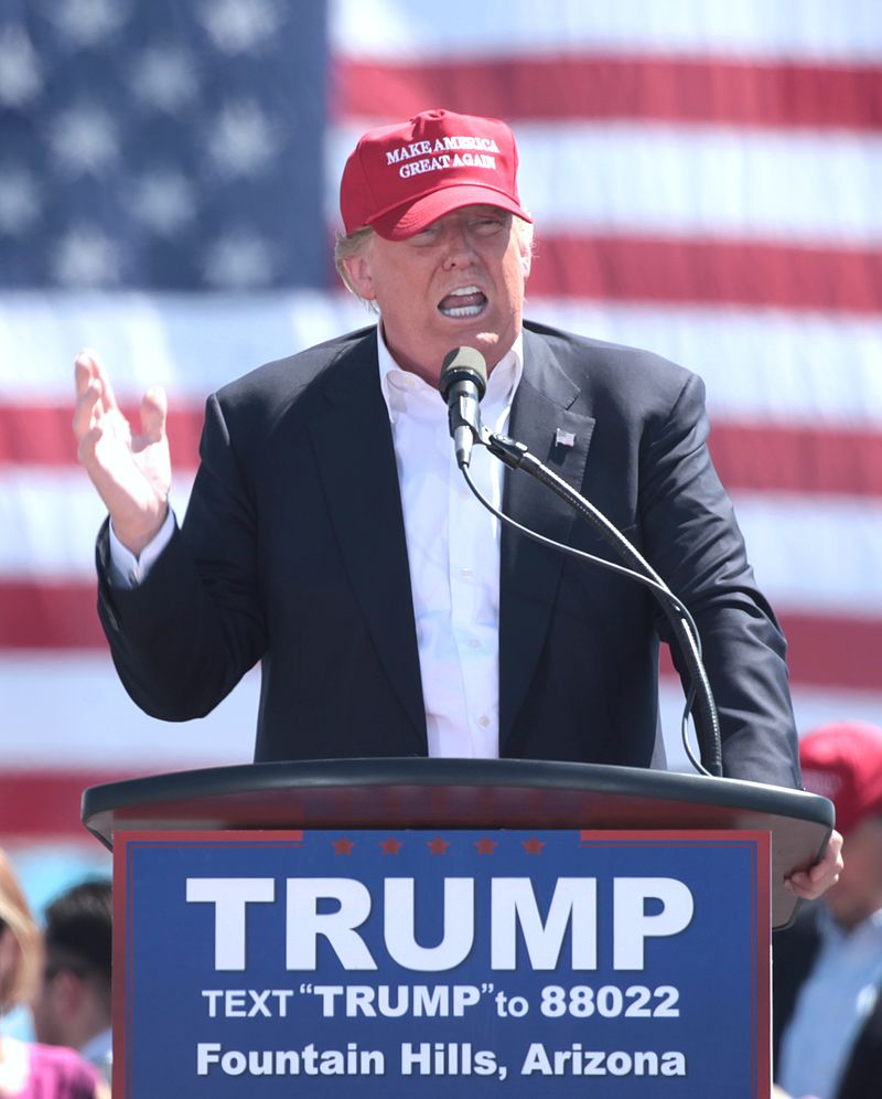 Republican nominee Donald Trump. Credit: Wikimedia Commons.