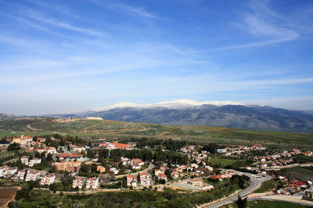 The northern Israeli town of Metula along the Lebanese border near Wednesday's shooting. Credit: Wikimedia Commons.