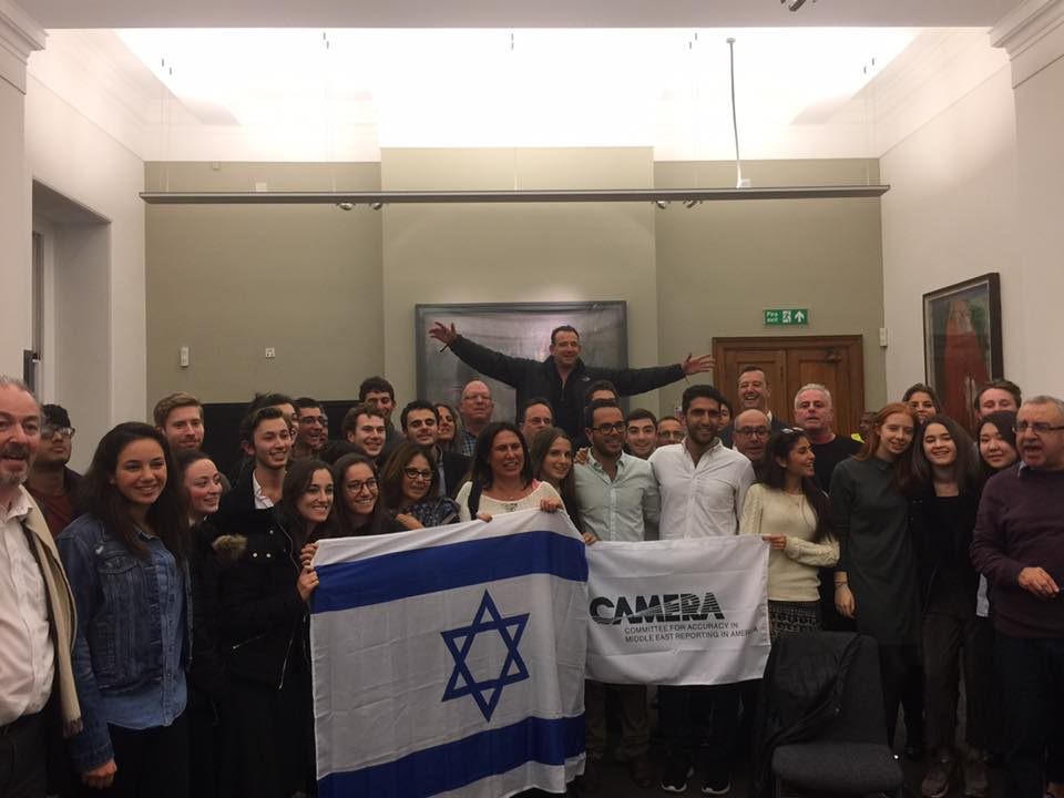 Pro-Israel attendees at the University College London. Credit: Sussex Friends of Israel.