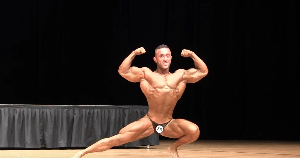 Kobi Ifrach at the Mr. Universe competition. Credit: YouTube screenshot.