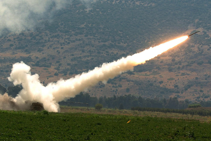 An Israeli rocket fired at a Hezbollah target during the Second Lebanon War in 2006. Credit: Haim Azulay/Flash90.