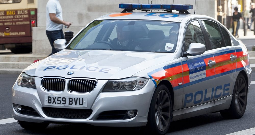 A London Metropolitan Police cruiser. Credit: Wikimedia Commons.