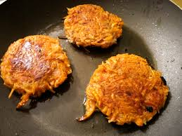 Sweet potato latkes. Credit: recipe4change.tumblr.com.