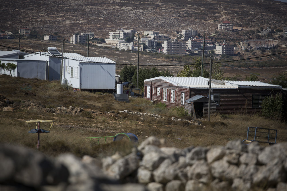 The Jewish outpost of Amona in the West Bank. Credit: Hadas Parush/Flash90.