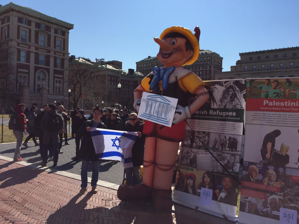 The Pinocchio display that pro-Israel groups will erect near U.N. headquarters on Thursday. Credit: Artists4Israel.