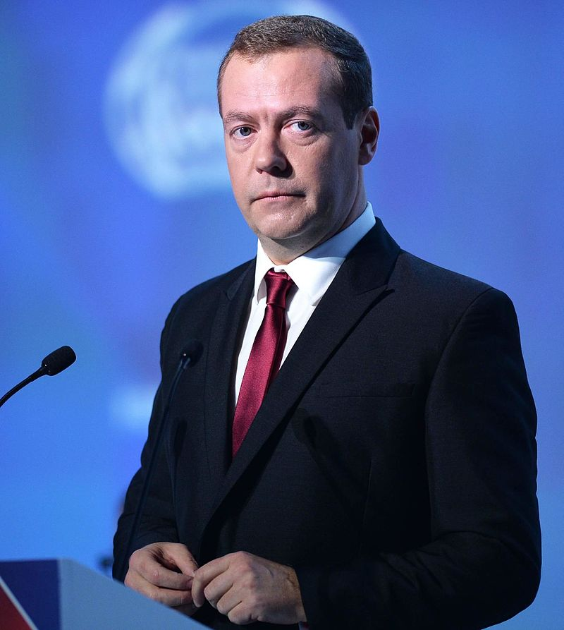 Russian Prime Minister Dmitry Medvedev. Credit: Government.ru via Wikimedia Commons.