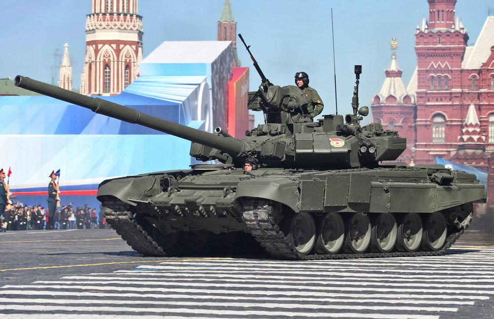 A Russian T-90 tank. Credit: Vitaly V. Kuzmin via Wikimedia Commons.