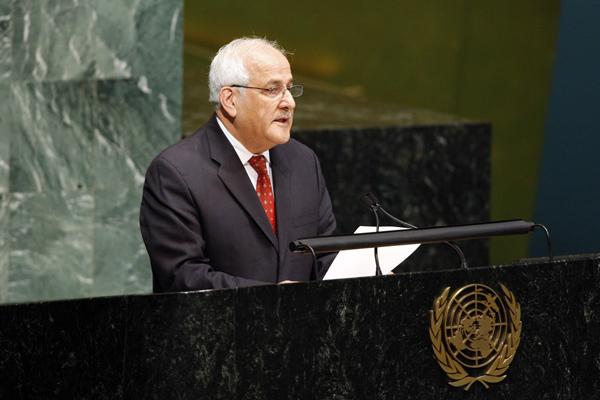 Riyad Mansour, the Palestinian representative to the United Nations. Credit: Palestinian U.N. Mission.
