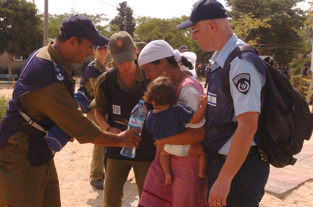 The evacuation of the former Gaza Jewish community of Morag in 2005. Credit: Israel Defense Forces.