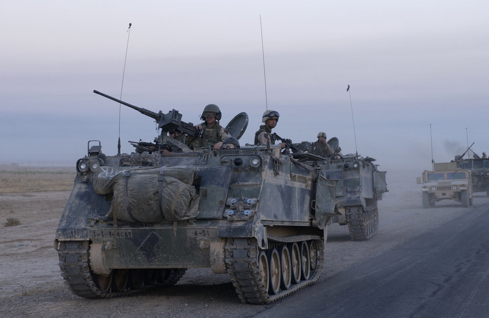 American-made M113 armored personnel carriers (pictured) have fallen into the hands of Hezbollah, the terror group revealed Thursday in a military parade. Credit: Staff Sgt. Shane A. Cuomo, U.S. Air Force.