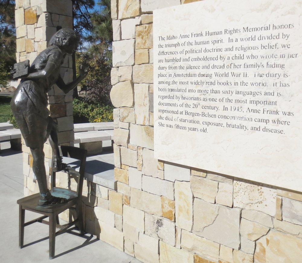 The Anne Frank Human Rights Memorial in Boise. Credit: Dan Fellner.