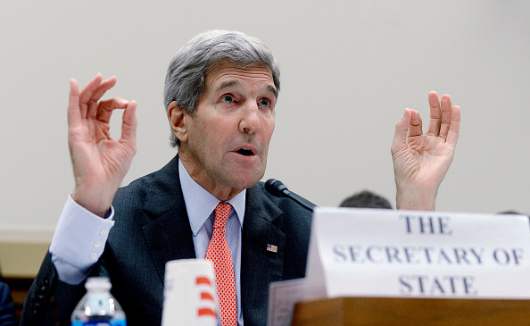 Secretary of State John Kerry testified on July 28, 2015 before the House Foreign Affairs committee which reviewed the Iran nuke deal. Credit: Oliver Douliery/Getty Images.