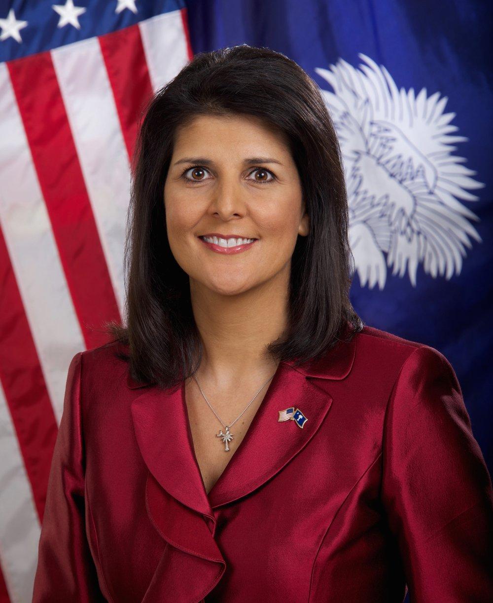 South Carolina Governor Nikki Haley. Credit: South Carolina Governor's Office/Sam Holland.