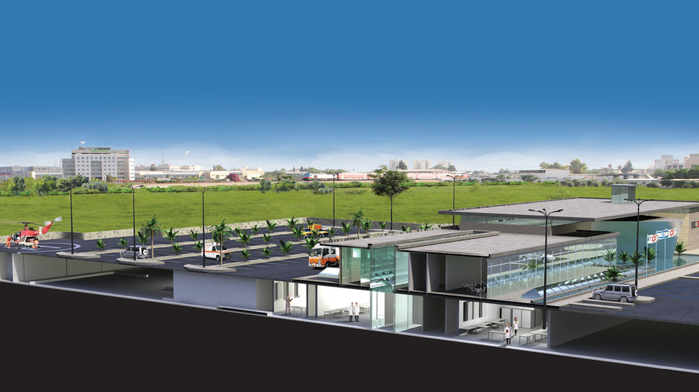 A sketch of Israel's new national blood services center. Credit: Courtesy Magen David Adom.