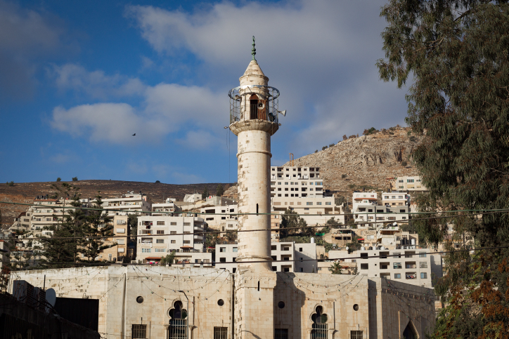 The central mosque in Nablus. Credit: Sebi Berens/Flash90.