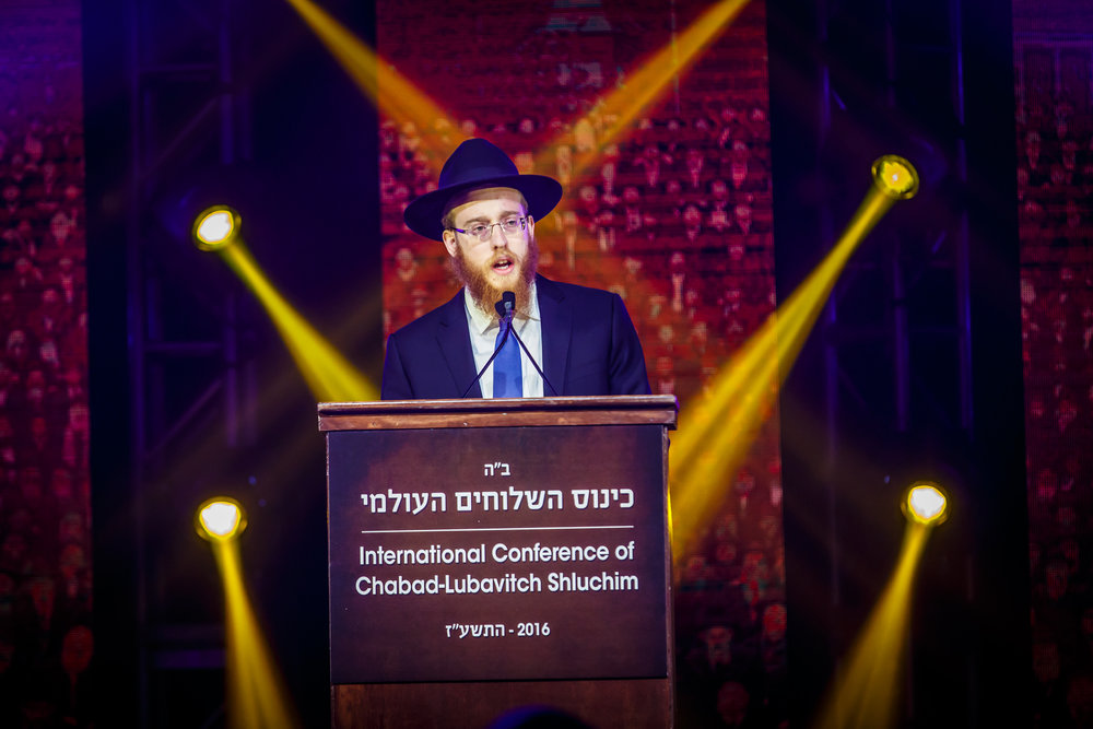 Rabbi Mendel Alperowitz, pictured here speaking at the International Conference of Chabad-Lubavitch Emissaries in New York Nov. 27, will be the South Dakota Jewish community's first full-time rabbi in decades. Credit: Chabad-Lubavitch.