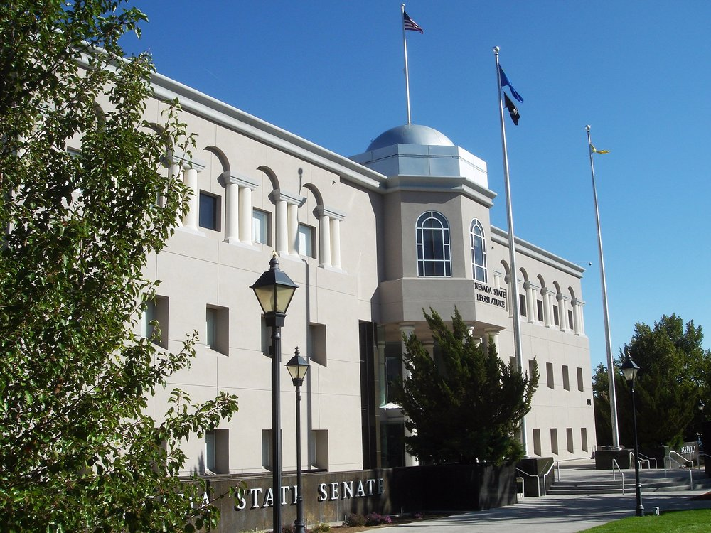 The Nevada legislative building in Carson City. Credit: Dave Parker via Wikimedia Commons.