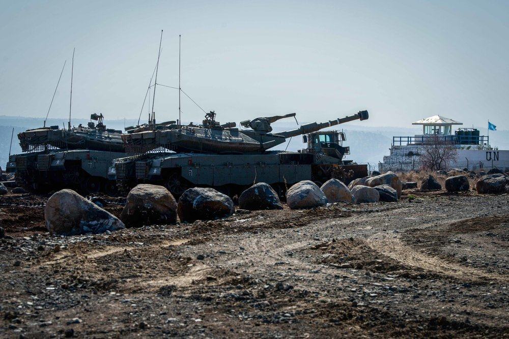 The Israel Defense Forces patrols the Israeli-Syrian border in the Golan Heights Nov. 27 after a shooting incident in which Islamic State shot over the border into Israel. Credit: Basel Awidat/Flash90.