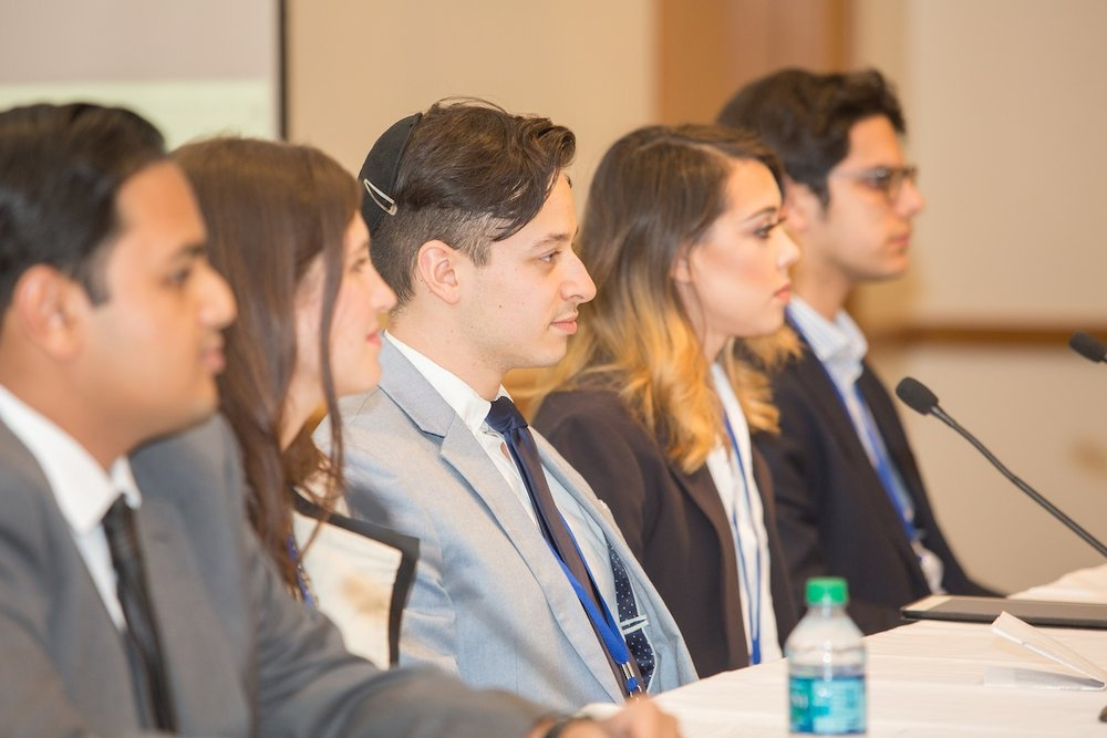 A panel discussion featuring college students during the CAMERA media watchdog's Dec. 4 national conference at Harvard University. Credit: Courtesy of CAMERA.