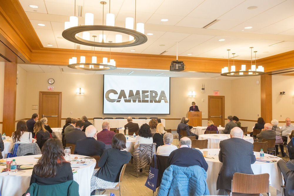 The CAMERA media watchdog's Dec. 4 national conference at Harvard University. Credit: Courtesy of CAMERA.