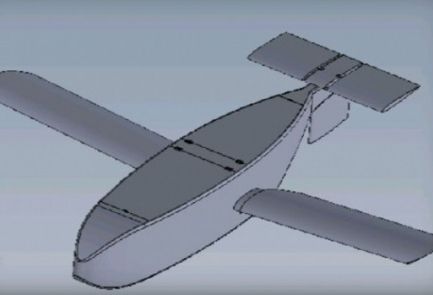 """A sketch of the new """"medical"""" glider developed by the IDF and the Technion - Israel Institute of Technology. Credit: IDF Spokesperson's Unit."""