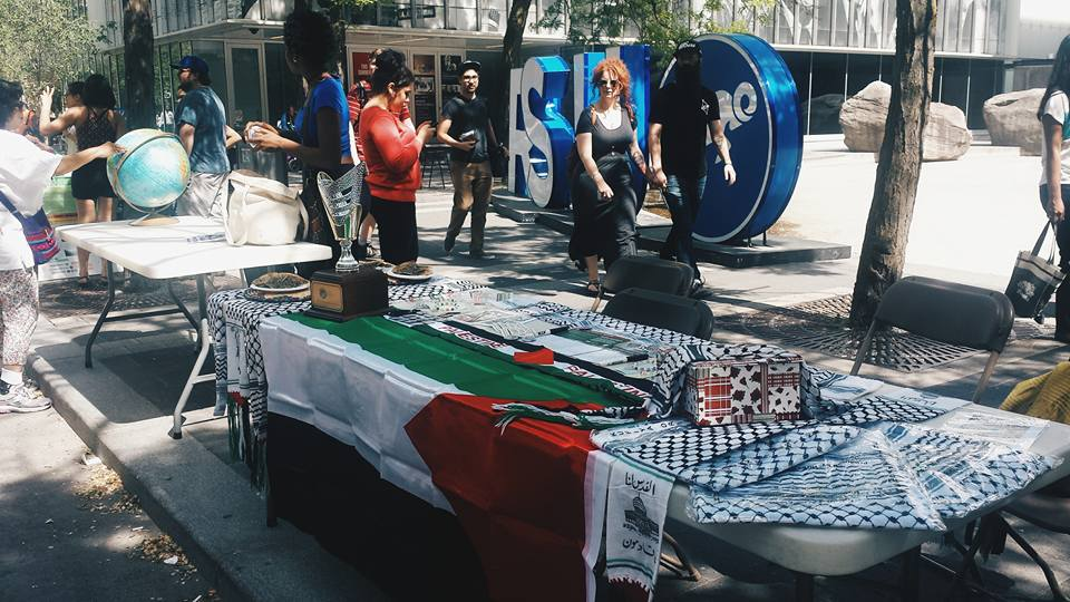 A Students for Justice in Palestine (SJP) display at Ryerson University in Toronto. Credit: SJP Ryerson via Facebook.