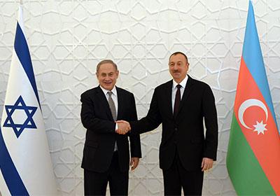 Israeli Prime Minister Benjamin Netanyahu (left) meets Azerbaijani President Ilham Aliyev in Baku. Credit: Haim Zach/GPO.