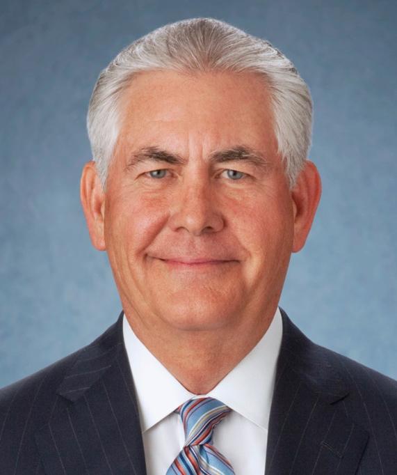 ExxonMobil CEO Rex Tillerson. Credit:ExxonMobil via Wikimedia Commons.