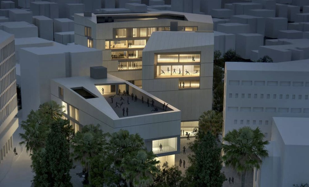 A sketch of the forthcoming Jerusalem Arts Campus. Credit: Courtesy of UJA-Federation of New York.