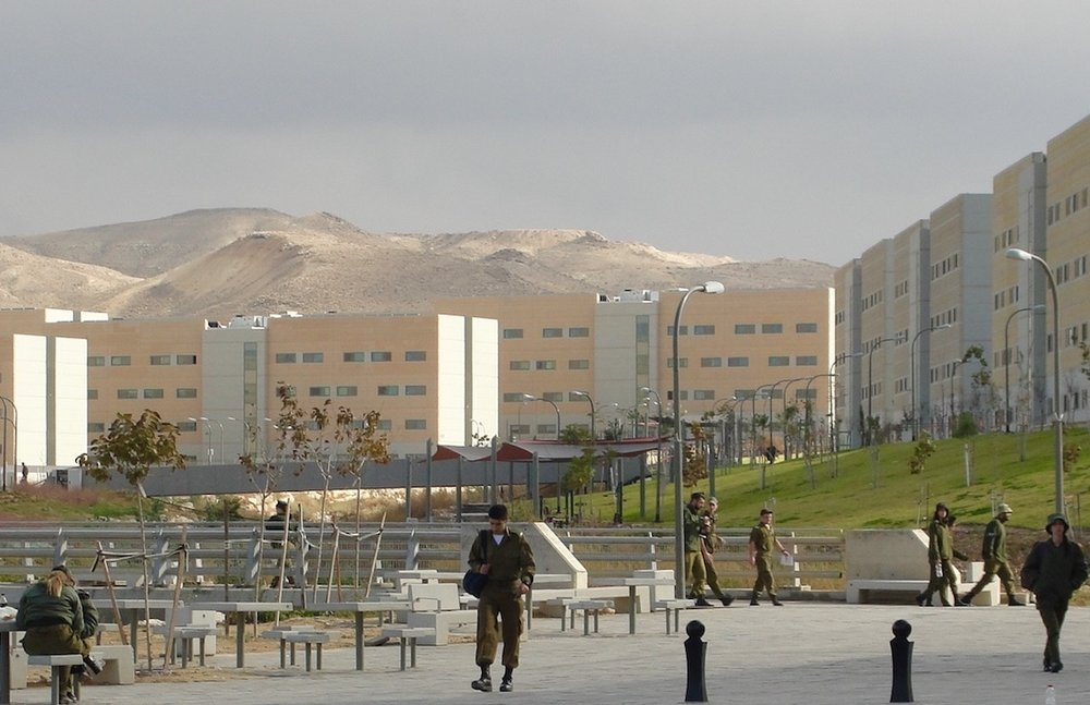 The new Israel Defense Forces City of Training Bases in the Negev. Credit: Judy Lash Balint.
