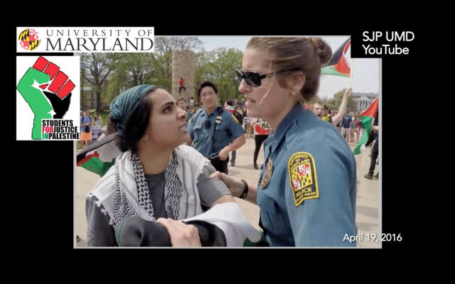 """A screenshot from the """"Hate Spaces"""" film. Credit: Americans for Peace and Tolerance."""