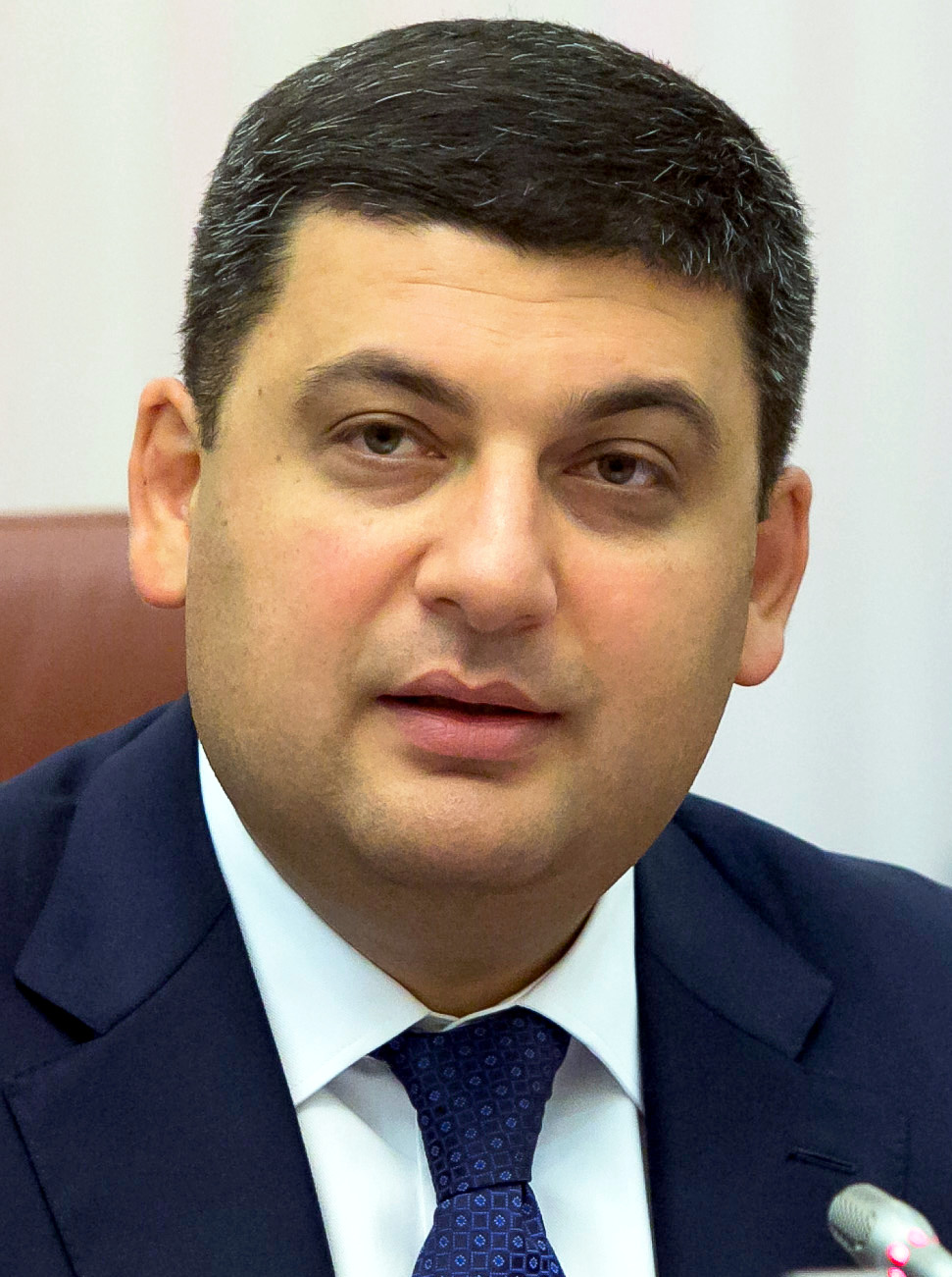 Ukrainian Prime Minister Volodymyr Groysman (pictured) was disinvited from Israel following Ukraine's vote in favor of the U.N. resolution against Israeli settlements. Credit: US Embassy Ukraine.