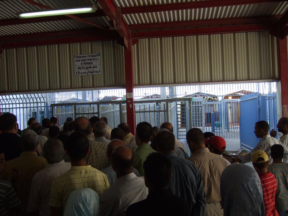 The Qalandiya checkpoint. Credit: Wikimedia Commons.