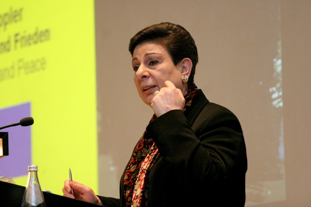 Hanan Ashrawi (pictured) has served as a spokesperson for the Palestinian Authority and the Palestine Liberation Organization to American audiences for more than two decades. Credit: Carsten Sohn via Wikimedia Commons.